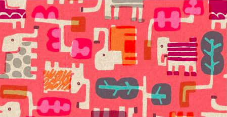 Elefant Walk/Peach (Canvas): Safari (Masaru Suzuki)