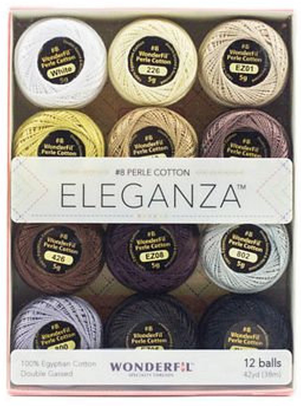 Eleganza #8 Perle Cotton/Neutral (12 ct. collection)