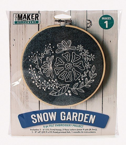Snow Garden Embroidery Kit (Mini Maker by Leisure Arts)