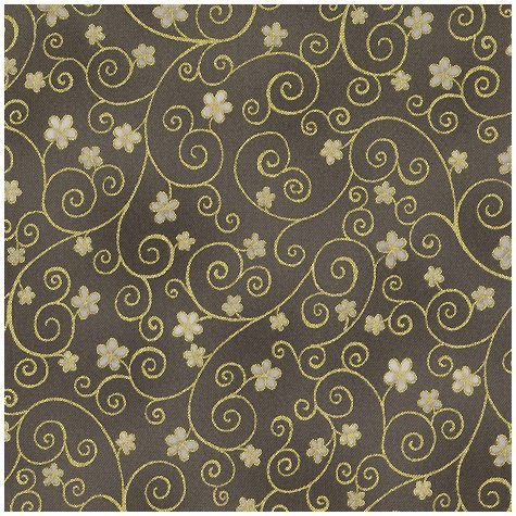 Swirls and Flowers/Gray: Raphael (STOF)