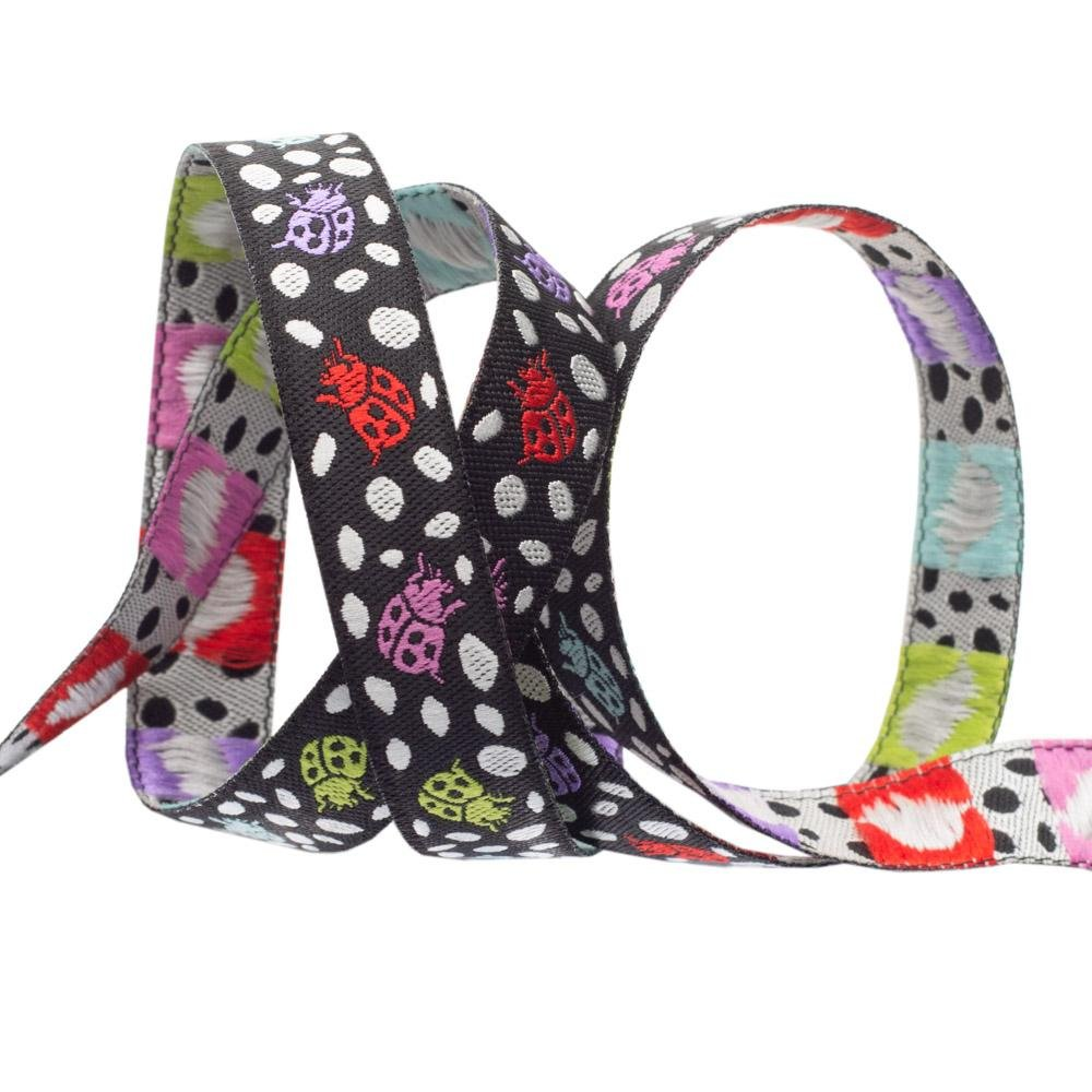 Spots on Spots/Guava  (1/2 Ribbon): Monkey Wrench (Tula Pink)