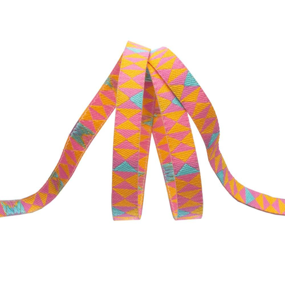 Hourglass/Mango (1/4 Ribbon): Monkey Wrench (Tula Pink)