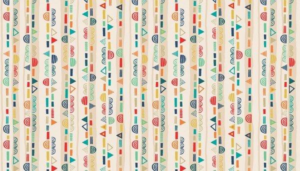 Stripe/Multi: Folk Friends (Makower)