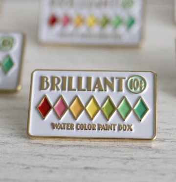 Watercolor Paint Box Enamel Pin (Maker Pin Co. - Collab with Heidi Staples)