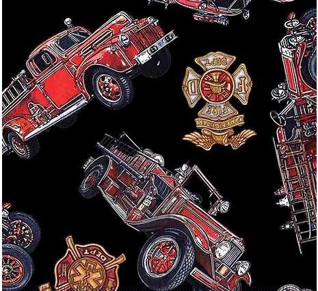 Firetrucks & Shields-black