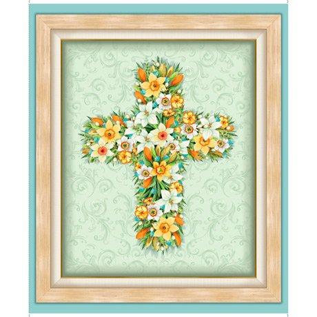 Floral Cross Panel