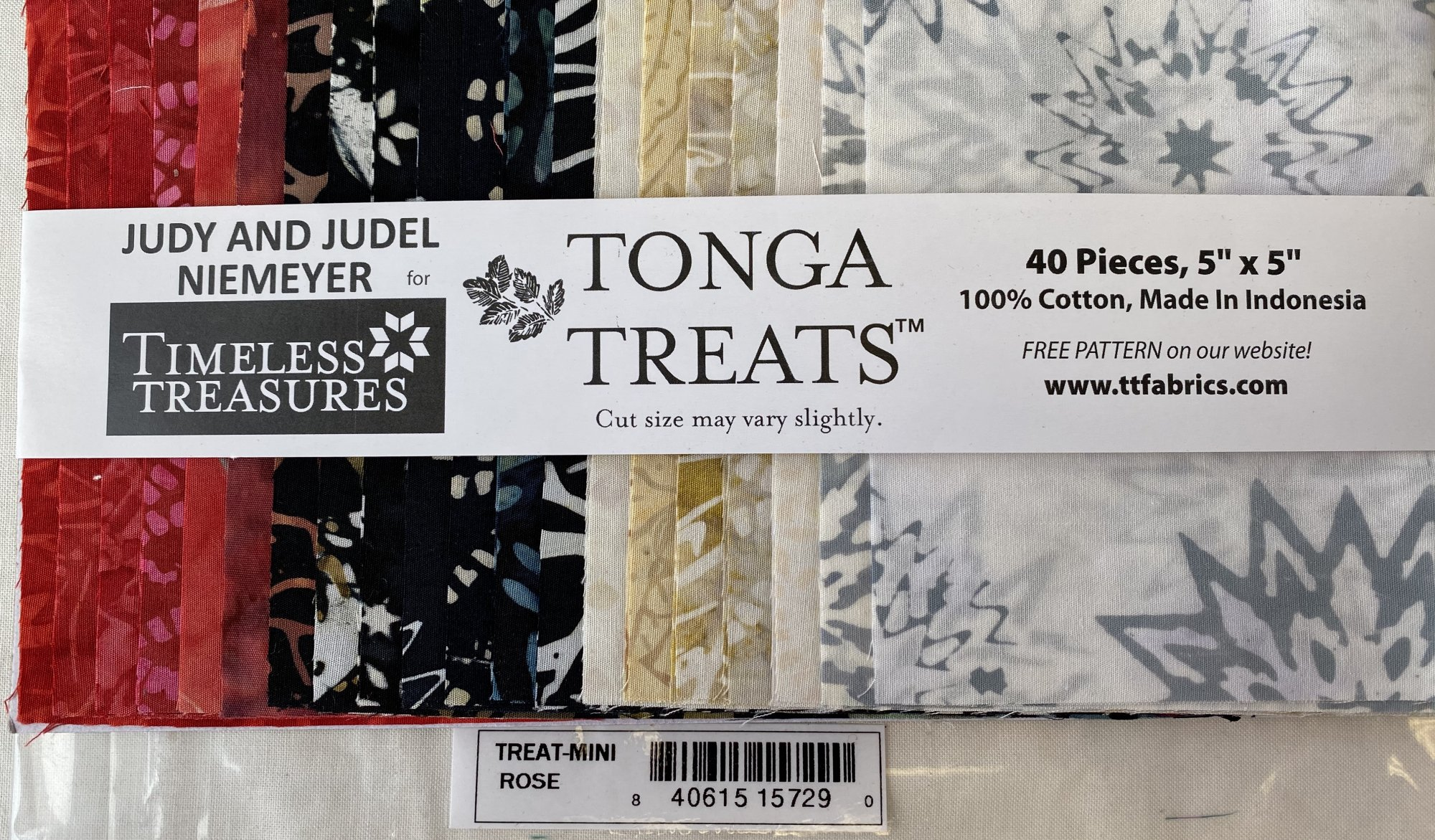 Rose Tonga Treats Charm Pack