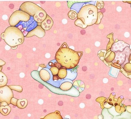Baby Animals-Pink
