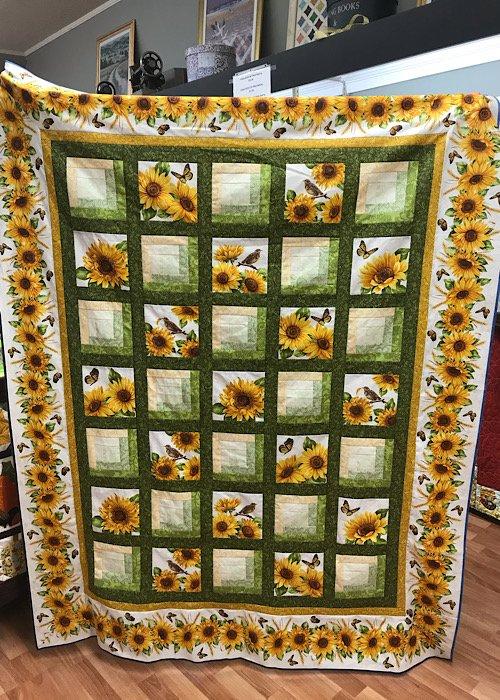 Snappy Sunflowers Kit 55x70
