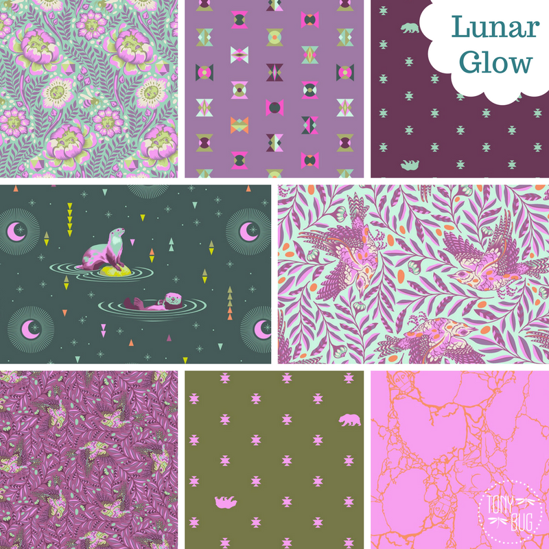 BUNDLE - Tula Pink - Spirit Animal - Lunar Glow (8)