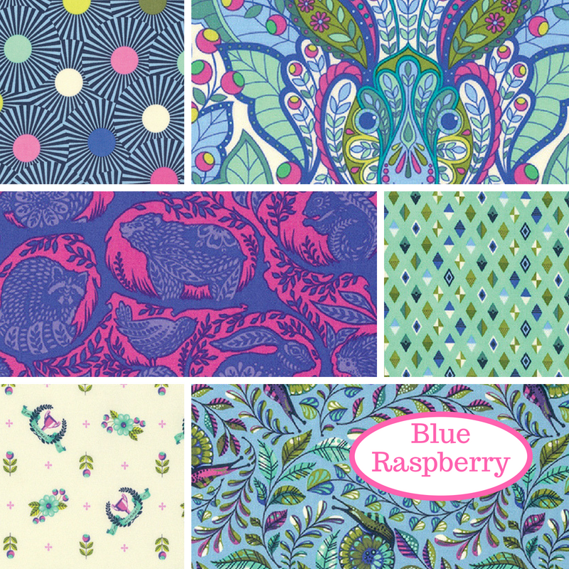 BUNDLE - Tula Pink - Slow & Steady - Blue Raspberry