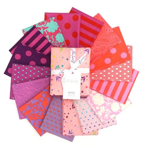 Tula Pink - Tula's True Colors - FLAMINGO - Fat Quarter Bundle of 16