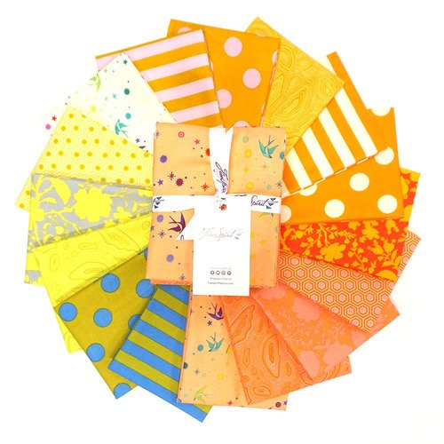 Tula Pink - Tula's True Colors - GOLDFISH - Fat Quarter Bundle of 16