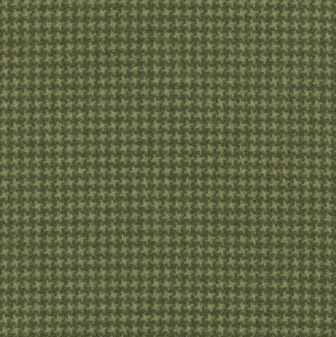 Woolies Flannel Tiny Houndstooth Green (MASF18122-G2)