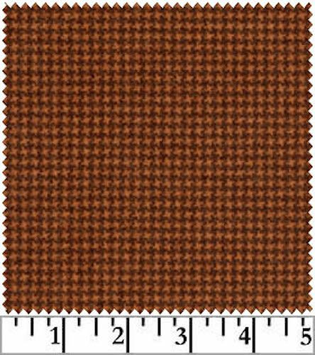 Woolies Flannel Tiny Houndstooth Rust Orange (MASF18122-M)