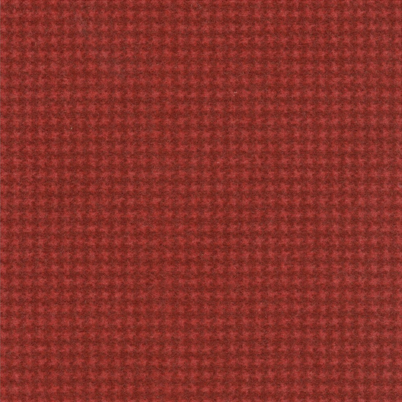 Woolies Flannel Tiny Houndstooth Bright Red (MASF18122-R2)