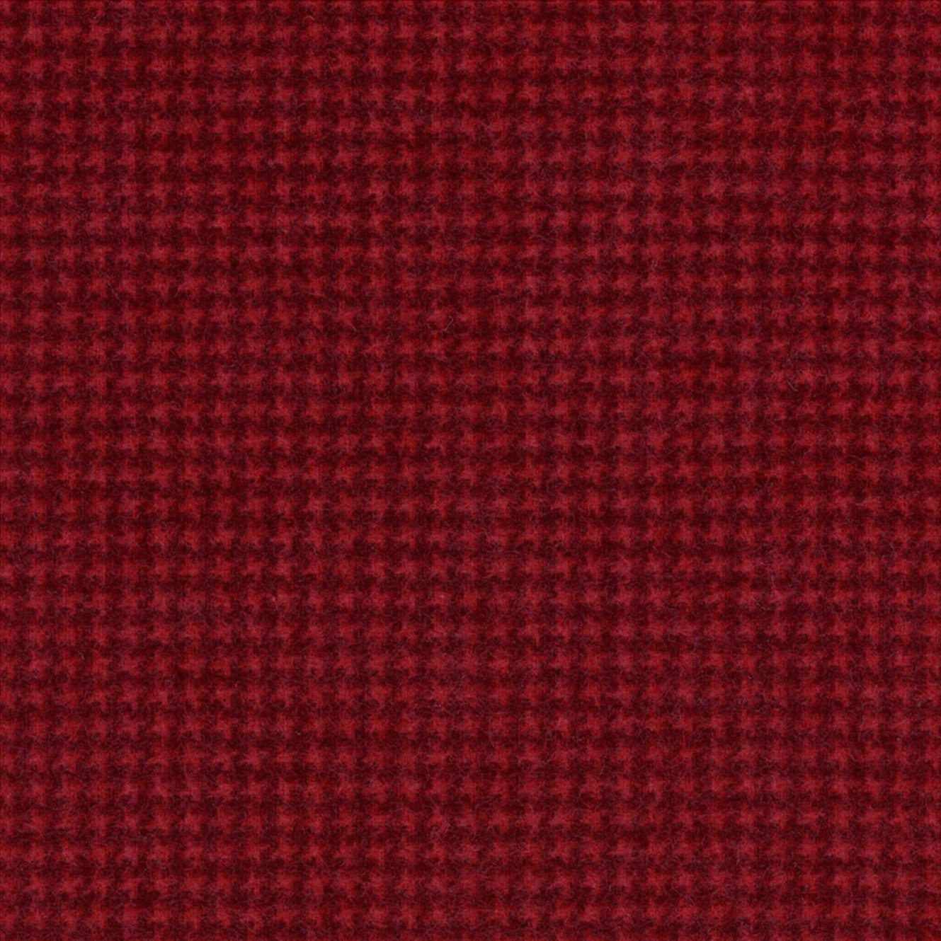 Woolies Flannel Tiny Houndstooth Red (MASF18122-R3)