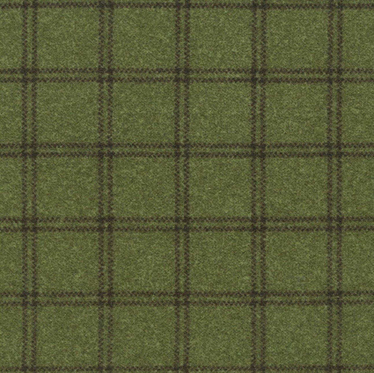 Woolies Flannel Double Windowpane Green (MASF18127-G2)
