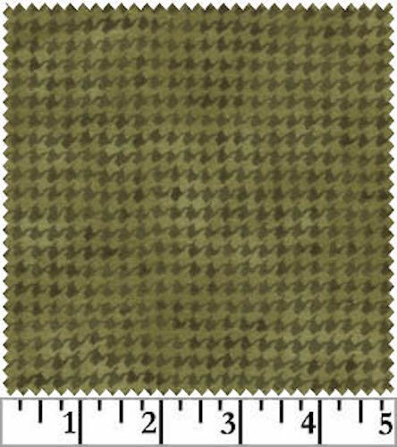 Woolies Flannel Houndstooth Green (MASF1840-G2)
