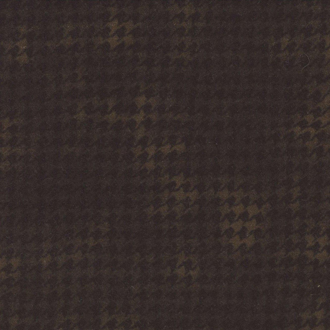 Woolies Flannel Houndstooth Black-Brown (MASF1840-J)