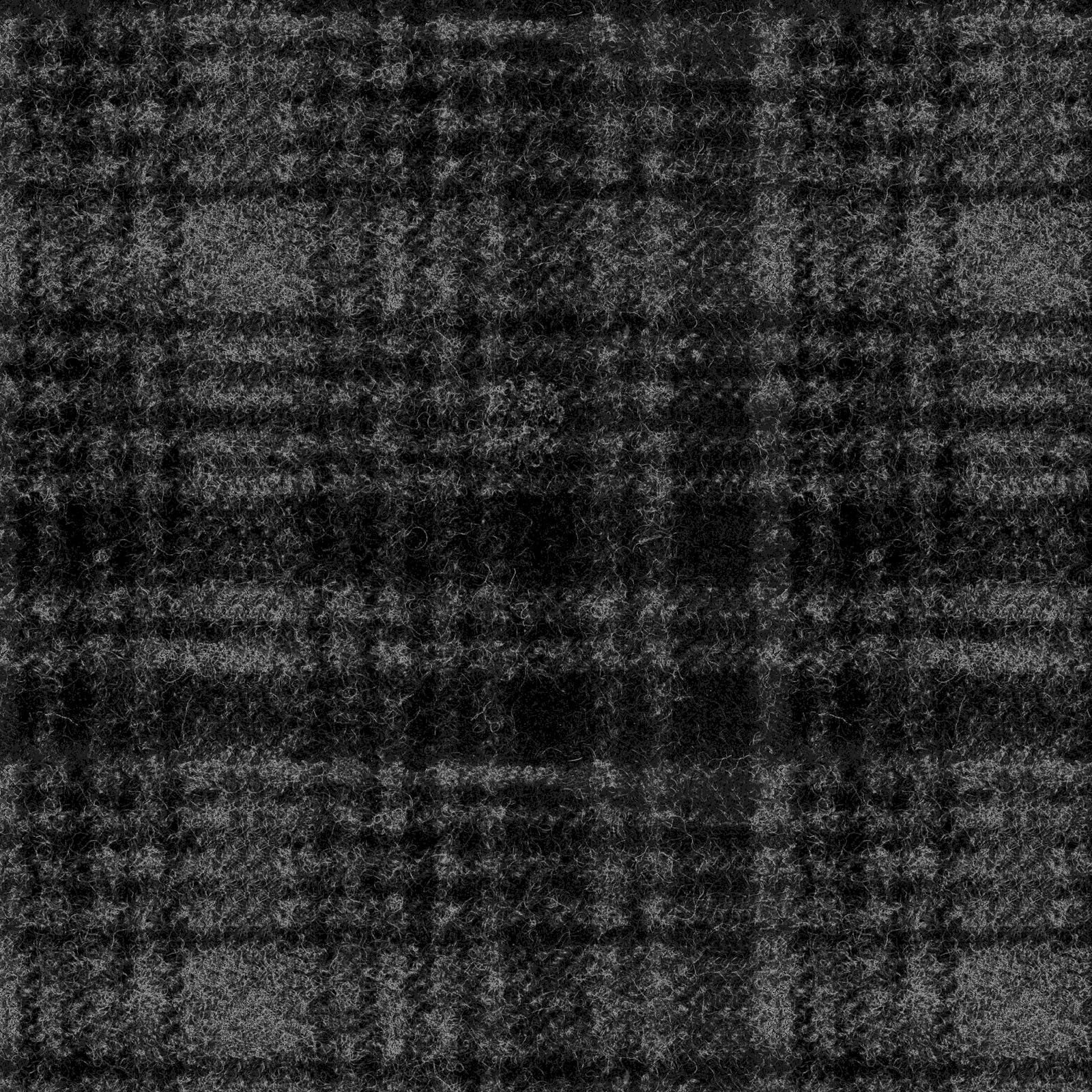 Woolies Flannel Windowpane Plaid Black (MASF18501-J)