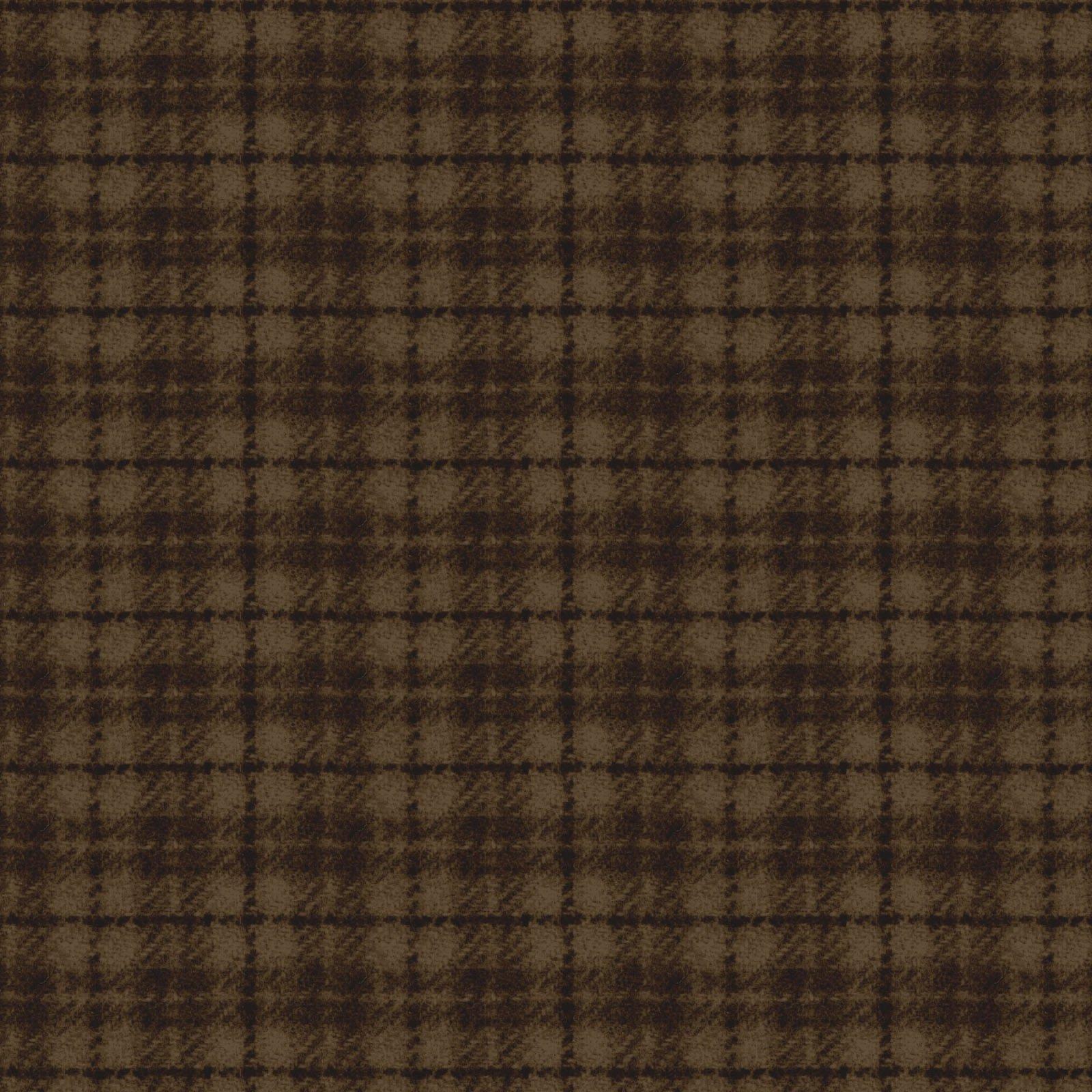 Woolies Flannel Plaid Brown (MASF18502-A)