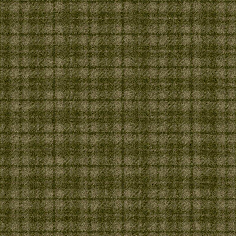Woolies Flannel Plaid Dusty Green (MASF18502-G2)