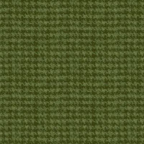 Woolies Flannel Houndstooth Green (MASF18503-G)