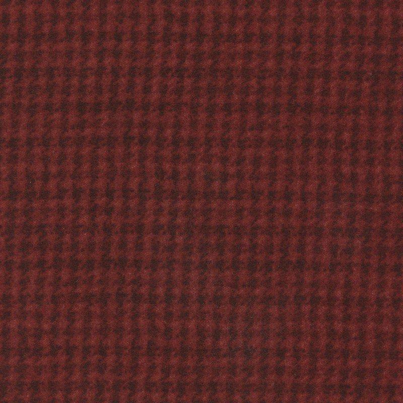 Woolies Flannel Houndstooth Dark Red (MASF18503-RJ)