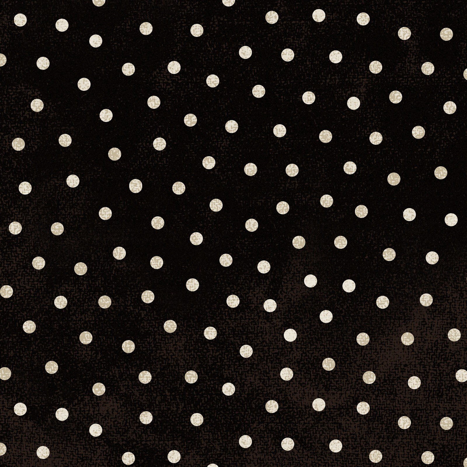 Woolies Flannel Polka Dots Black & Cream (MASF18506-J)