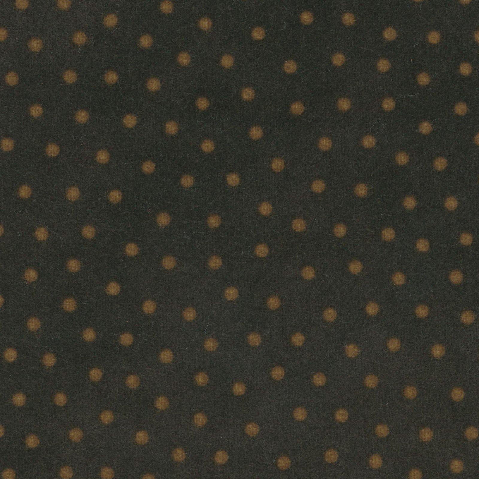 Woolies Flannel Polka Dots Espresso (MASF18506-JA)