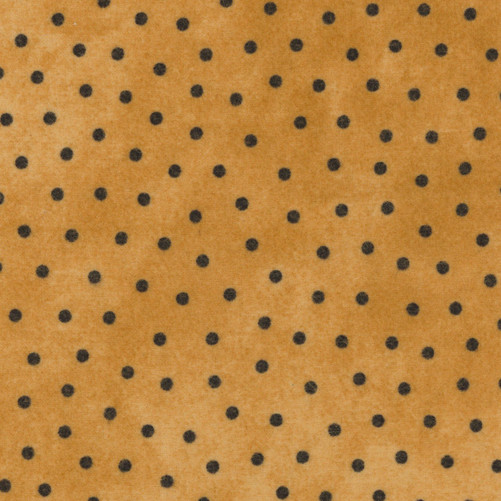 Woolies Flannel Polka Dots Sunny Gold Yellow (MASF18506-S)