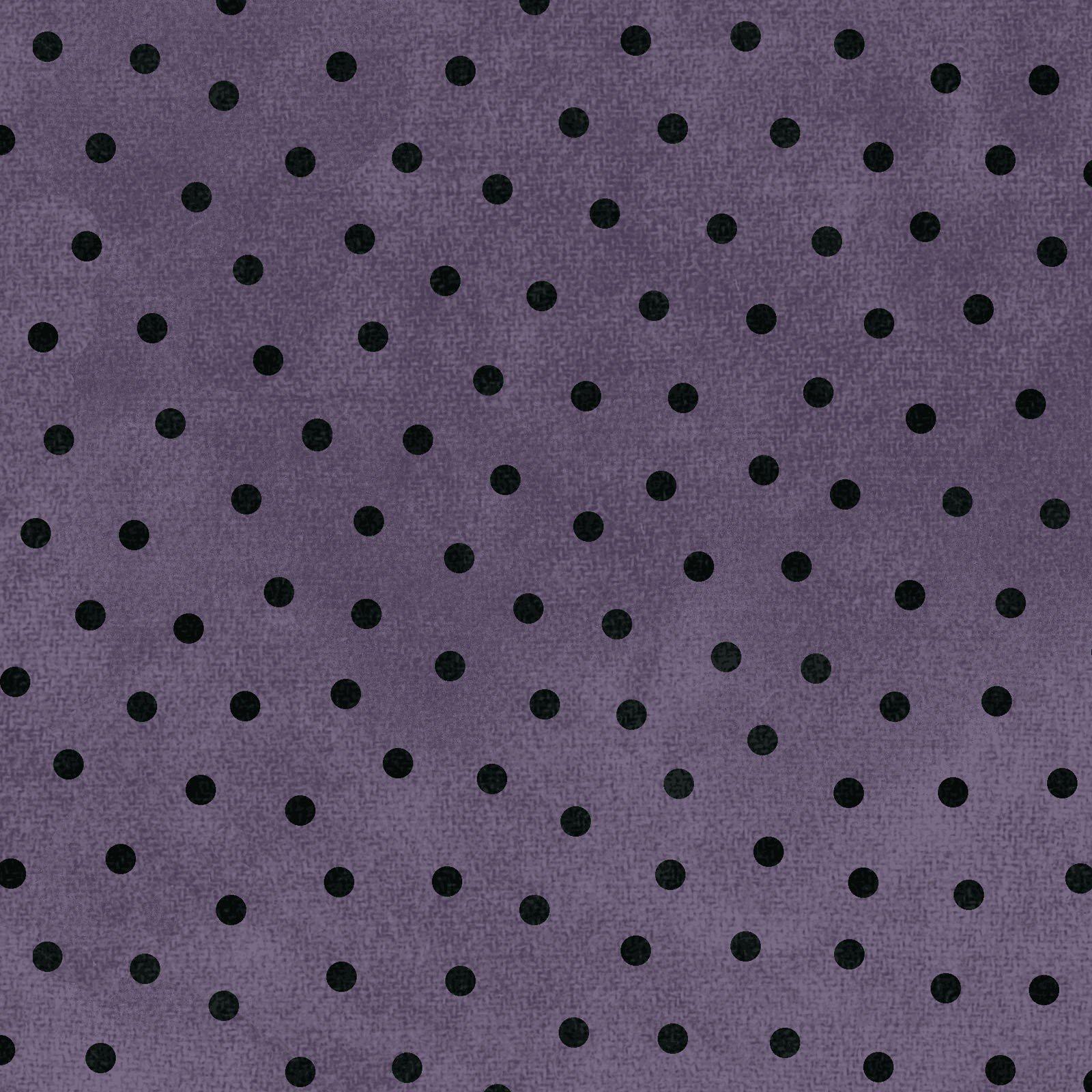 Woolies Flannel Polka Dots Purple (MASF18506-V)
