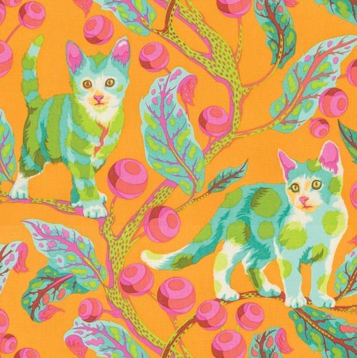 Tula Pink - Tabby Road - Disco Kitty in Marmalade Skies