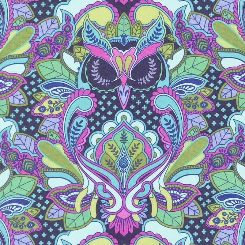 Tula Pink - All Stars - Owl in Petunia