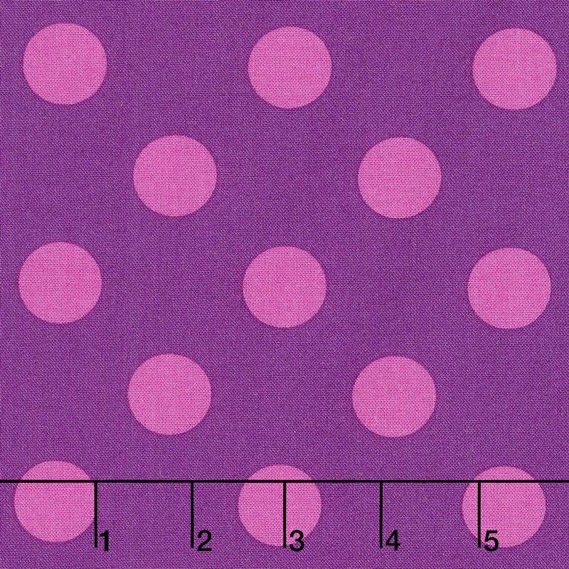 Tula Pink - All Stars - Pom Poms in Foxglove