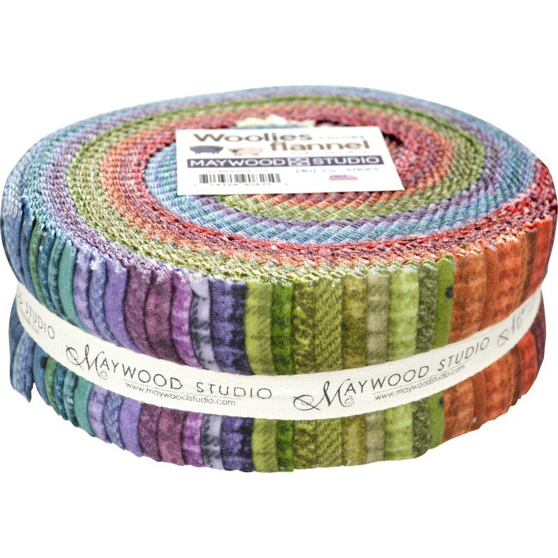 Woolies Flannel 2.5 Strips Colors Jelly Roll (40)