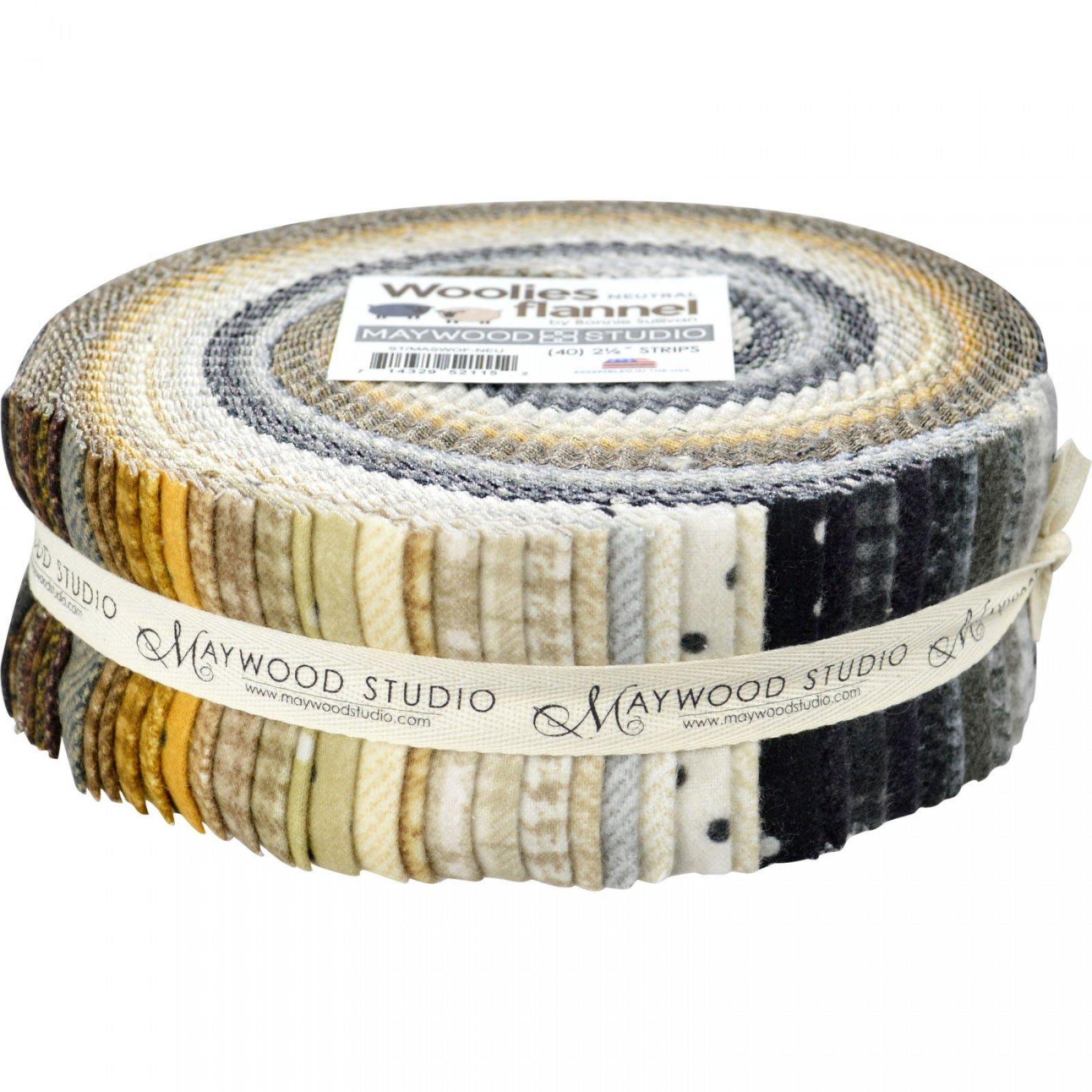 Woolies Flannel 2.5 Strips Neutrals Jelly Roll (40)