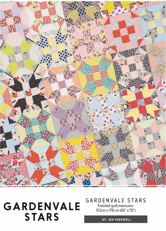 Gardenvale Stars Pattern by Jen Kingwell