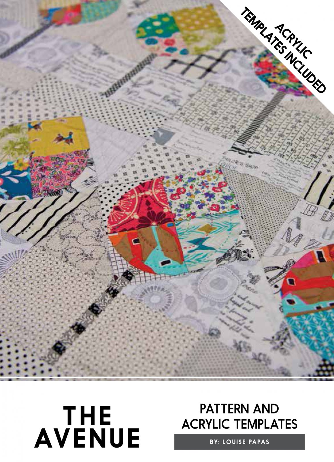 The Avenue Pattern & Acrylic Template (ATI) by Louise Papas