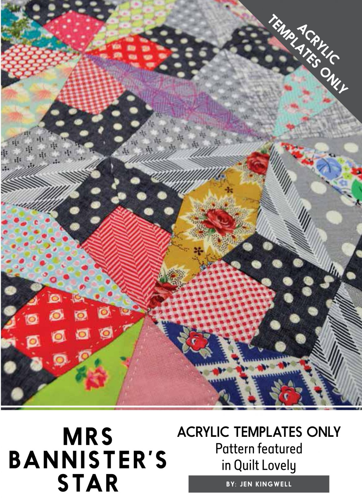 Mrs Bannister's Star Acrylic Template (ATO) by Jen Kingwell