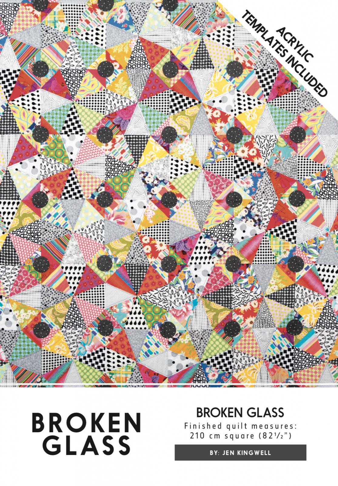 Broken Glass Pattern And Templates by Jen Kingwell