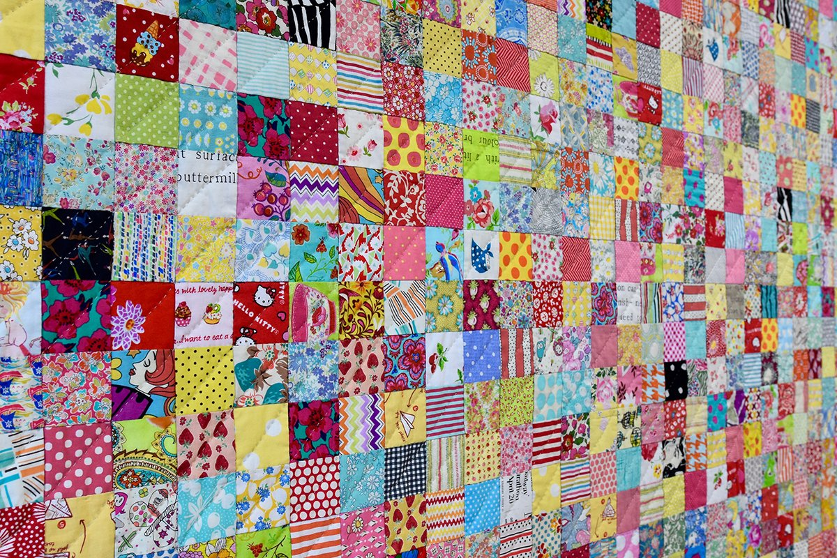 Postcard Project #3 - Scrappy Squares