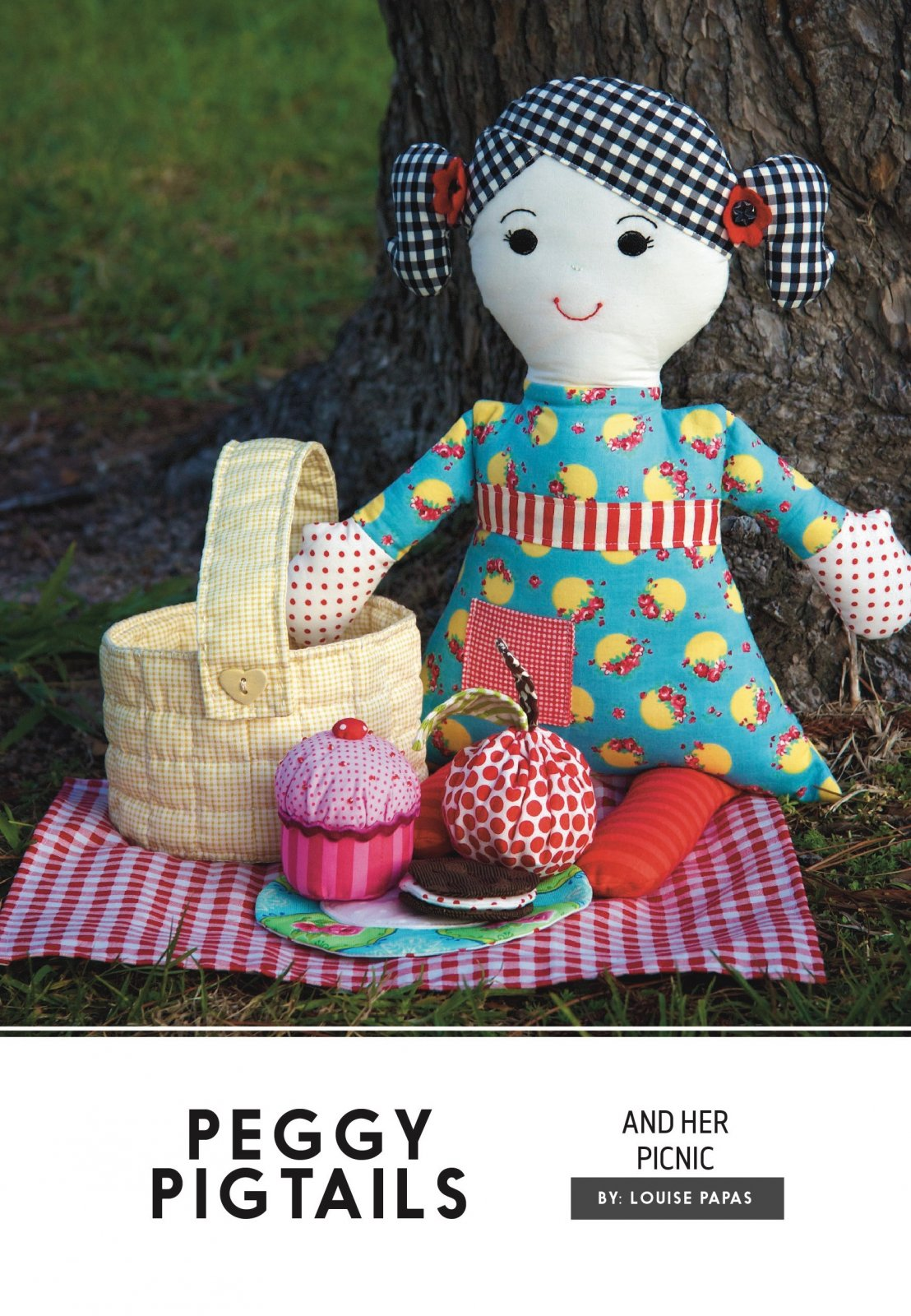 Peggy Pigtails Soft Toy Pattern by Louise Papas