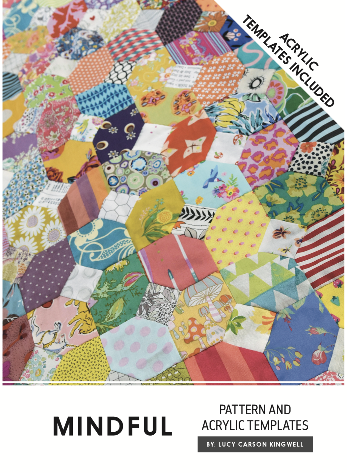 Mindful Pattern And Acrylic Template by Lucy Carson Kingwell