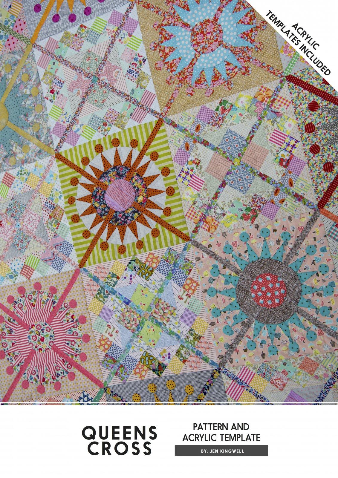 Queens Cross Patter & Acrylic Templates (ATI) by Jen Kingwell