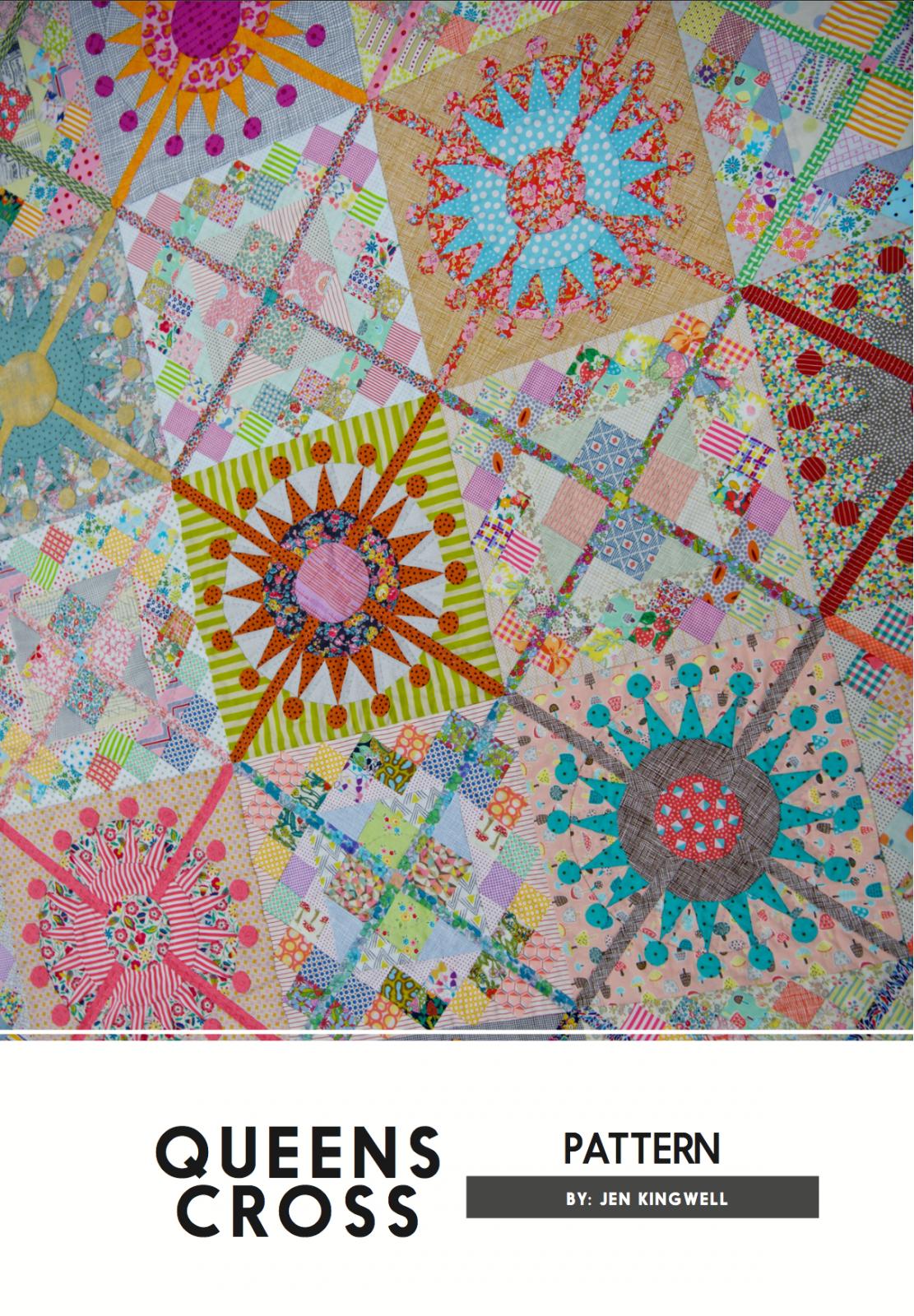 Queens Cross Pattern by Jen Kingwell