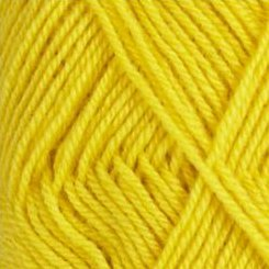 Rauma StrikkeGarn 3ply 125 Bright Yellow