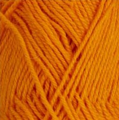 Rauma StrikkeGarn 3ply 161 Bright Orange