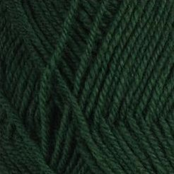 Rauma StrikkeGarn 3ply 123 Dark Forest Green